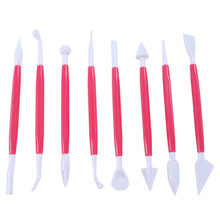 Shapers Polymer-Clay Styluses-Tools Clay-Ball Dotting-Tool Pottery Silicone-Color 2-Way