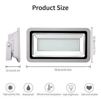 500W LED Luz de inundación SMD lámpara de exterior blanco frío alto brillo CE aprobado y cumple con Rohs