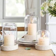 Creative Minimalist Glass Cover Candle Holders Wedding Decorations Lantern Candelabro Vela Christmas Decorations Decor 50X115 все цены