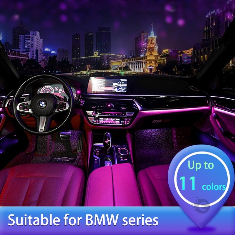 8/9/11 Colors Car Decorative Auto Ambient Light Led Strip For Bmw F20 F10 F34 F36 E46 E90 G30 X1 X5 X3 Tuning Car Accessories