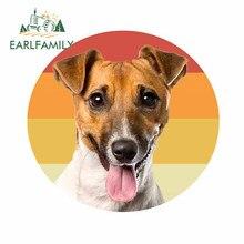EARLFAMILY 13cm x 12.5cm dla Jack Russell Terrier osobowość samochodów naklejka Vinyl materiał naklejka dla SUV JDM ATV niestandardowe drukowanie
