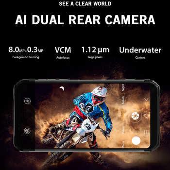 "Blackview BV6100 Dual Gorilla 6.88\"" Screen Smartphone 3GB+16GB Android 9.0 IP68 Waterproof Cellphone 5580mAh NFC Mobile Phone"