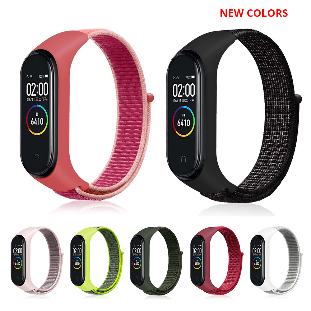Nylon Loop Strap For Xiaomi Mi Band 4 Sports Replaceable Bracelet Breathable Strap For Xiaomi Miband 3 Smart Watch Accessories