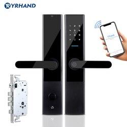 TTlock App, Seguridad Electrónica, App Bluetooth, WiFi, código Digital, tarjeta IC, cerradura biométrica de puerta con huella dactilar para el hogar