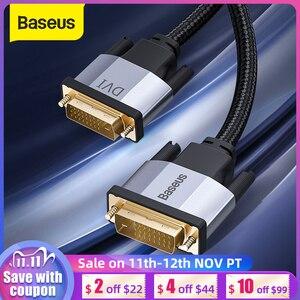 Image 1 - Baseus DVI Cable 2K DVI D Cable Male DVI to Male DVI Cord for HDTV Projector Multimedia 24+1 DVI D Vedio Dual Link Cable Line