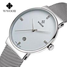 WWOOR Luxury Brand Men's Watch Fashion Business Slim Waterpr