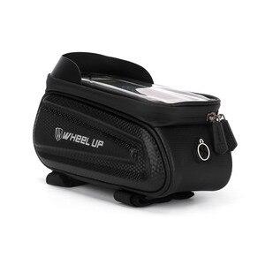 Image 2 - Колеса до 7,0 дюймов Водонепроницаемый велосипедная сумка переднюю верхнюю раму жесткий корпус сумка чехол для телефона сумка с сенсорным экраном MTB велосипед аксессуары