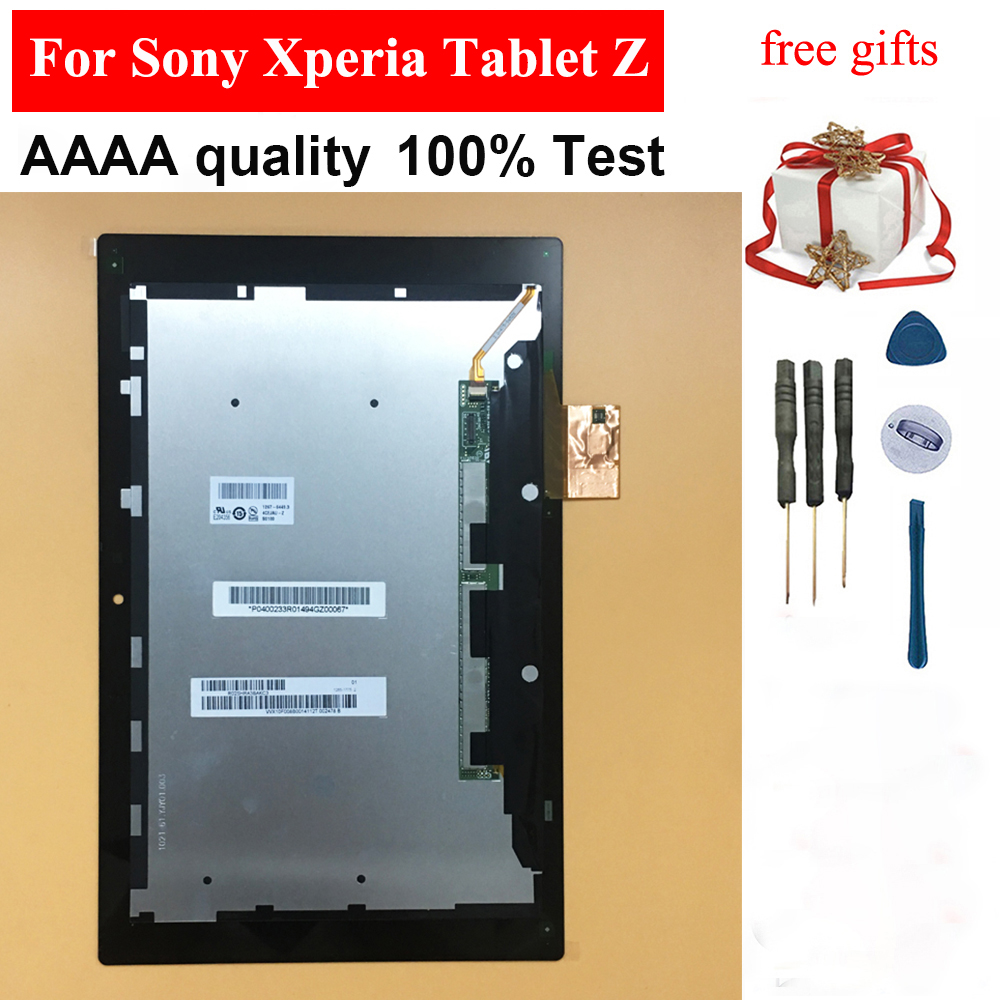 For Sony Xperia Tablet Z 10.1 SGP311 SGP312 SGP321 Black Touch Screen Digitizer Panel Glass + LCD Display Panel Monitor Assembly
