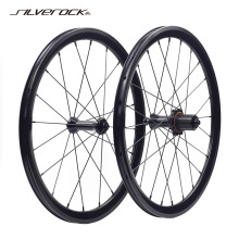 100-130mm Wheelset Recumbent Bike 451 Velo SILVEROCK Mini Alloy Folding 406 Brake 74