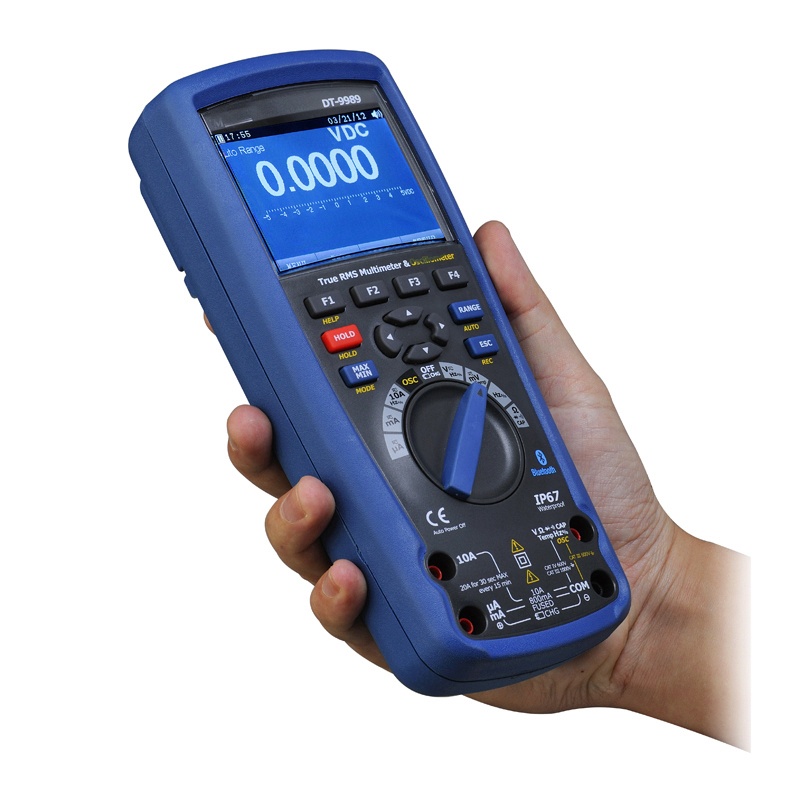 1PC DT-9989 Professional Digital Multimeter Oscilloscope LCD Color Screen Usb Current Voltage Test Electrician Tools