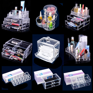 Clear Makeup case drawers Cosmetic Organizer Lipstick Holder Jewelry storage Acrylic cabinet Box