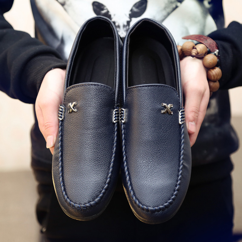 2020 Spring And Summer New Beanie Shoes Men's Casual Shoes Lazy Driving British Leather Shoes Men's Non-slip Breathable Men's Sh