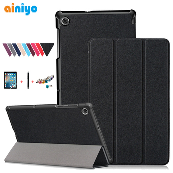 "Cover For Lenovo Tab M10 Plus Tb-x606f Tb-x606x 10.3"" PU Leather Magnetic Stand Case For Lenovo M10 FHD Plus Shell + Film Pen"