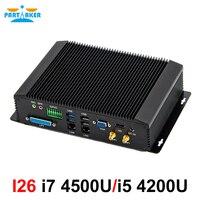 Industrial mini pc intel core i5 4200U i7 4500U 4650U with 6COM RS232 RS422 RS485 HDMI VGA GPIO LPT ports for medical industry