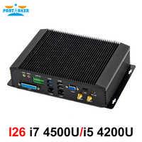 Mini pc industriel intel core i5 4200U i7 4500U 4650U avec 6COM RS232 RS422 RS485 HDMI VGA GPIO LPT ports pour l'industrie médicale