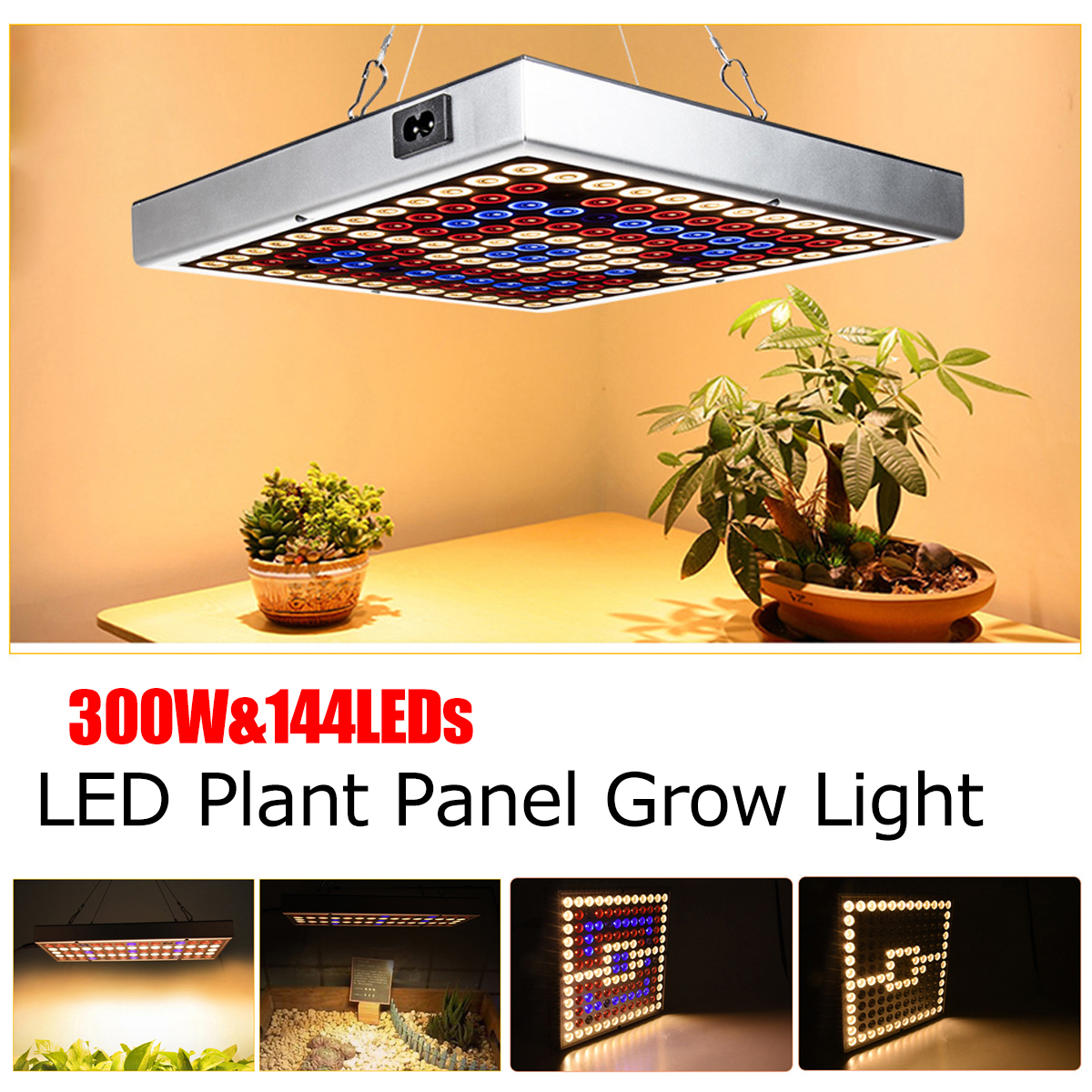 Growing Lamps 300W Full Spectrum Plant Lighting Growing Lamps LED Grow Light  Fitolampy For Plants Flowers Seedling Cultivation
