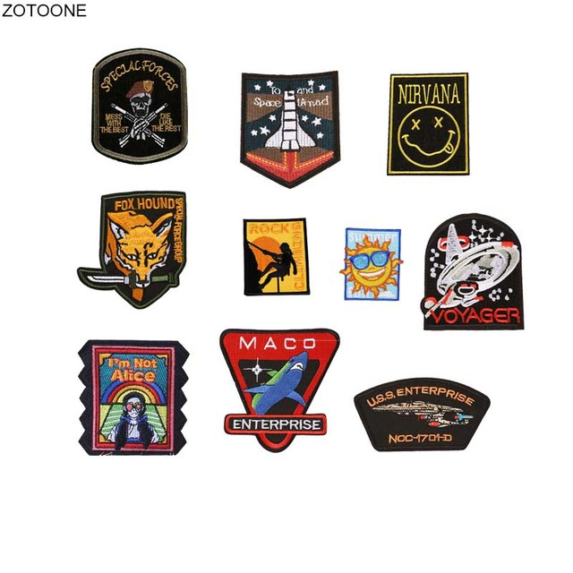 """Alpha Wolf 4/"""" Embroidered iron-on Patch Funny Badge sew-on Military Applique"""