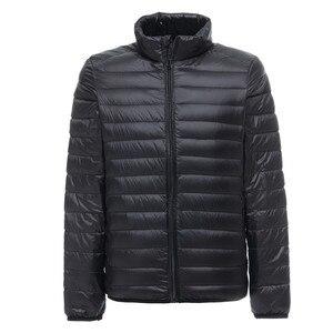 Image 1 - 2019 nuovo Mens Ultralight Giacca Casual Autunno Inverno Bianco Anatra Imbottiture Giacca A Vento Cappotto Caldo Parka Maschile Cappotto di Modo Tuta Sportiva