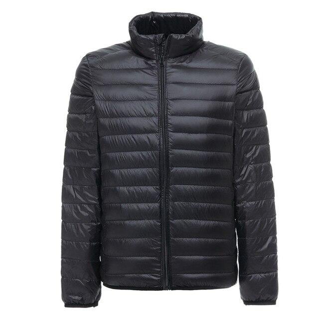 2019 nuovo Mens Ultralight Giacca Casual Autunno Inverno Bianco Anatra Imbottiture Giacca A Vento Cappotto Caldo Parka Maschile Cappotto di Modo Tuta Sportiva