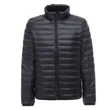 2019新メンズ超軽量ジャケットカジュアル秋冬白アヒルダウンウインドブレーカーオーバーコート暖かいパーカー男性のコートのファッション上着