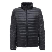 Chaqueta ultraligera para hombre, abrigo informal de otoño e invierno con plumón de pato blanco, abrigo rompevientos, Parka cálida, a la moda ropa de abrigo, novedad de 2019