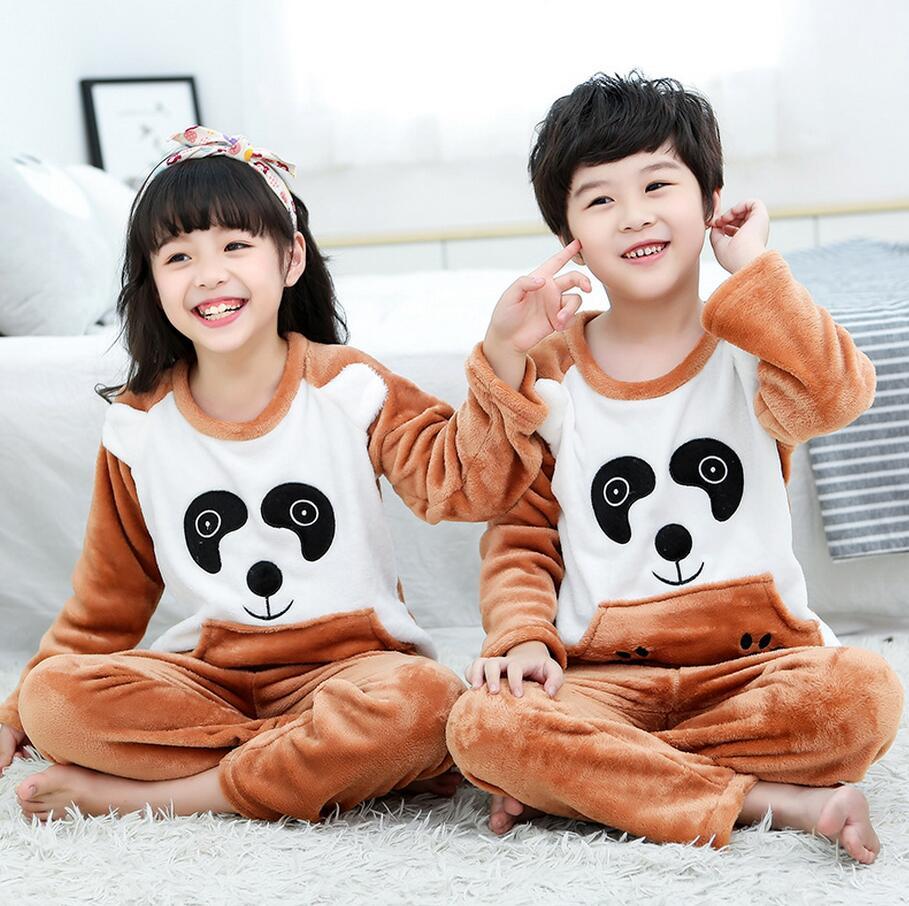 Новинка года; зимняя детская флисовая Пижама; теплая фланелевая одежда для сна; домашняя одежда для девочек из кораллового флиса; детская пижама; домашняя одежда; Пижама для мальчиков - Цвет: model 16