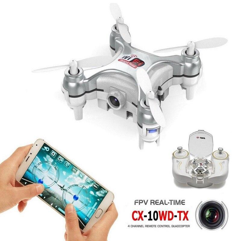 RCtown Оригинальный Cheerson CX 10W 4CH 6 Axis Gyro Wifi FPV Дрон RTF 3D выворот мини Квадрокоптер с дистанционным управлением, беспилотные летательные аппараты с 0.3MP Камера