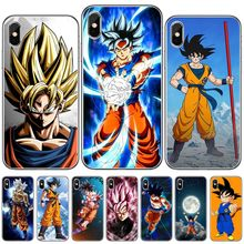 Goku super saiyan lendas bebê goku dragon ball z super broly tpu caso de telefone para iphone 11 pro max 7 8 6s plus x xs xr 5 5S se(China)