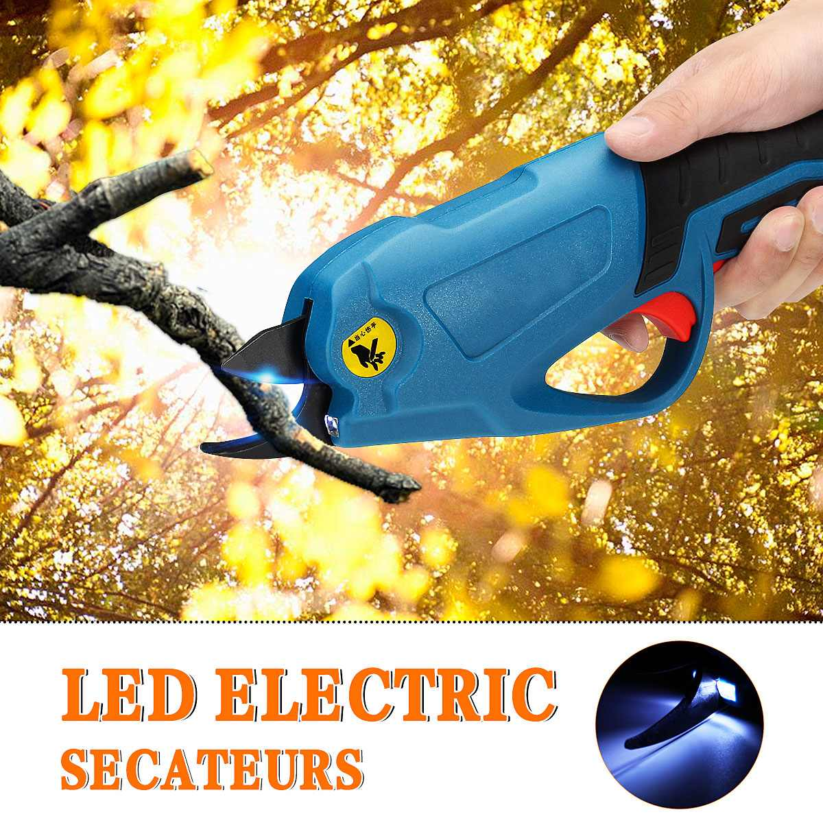 4V Cordless Electric Rechargeable Lithium Pruning Shears Secateur Branch Cutter Electric Fruit Pruning Tool Garden Pruner