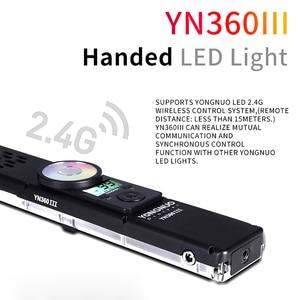 Image 3 - Yongnuo YN360III palmare RGB LED Video Light Ice Stick 3200 5600K bicolore/5500K Touch regolazione YN360 III illuminazione di riempimento foto