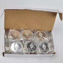 50pcs/Lot Collectibles  Ethereum coin Commemorative Coins For Souvenir 100pcs lot collectibles ethereum coin eth coin metal physical coin commemorative coins for souvenir