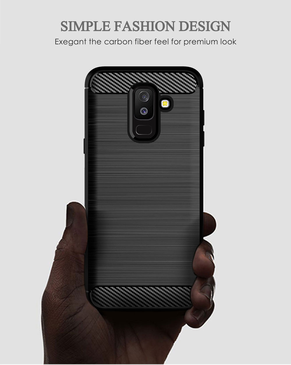 Image 2 - Carbon Soft Silicone Phone Case For Samsung Galaxy A6 Plus A6S 2018 Cover Bumper GalaxyA6 A6plus A62018 A6s2018 SM A600F A605F-in Half-wrapped Cases from Cellphones & Telecommunications