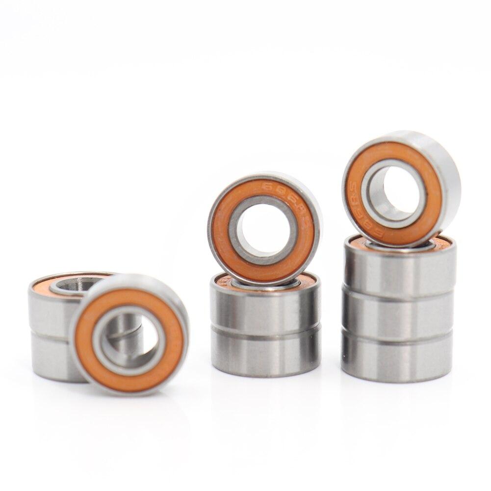 S687-2RS 7x14x5 mm ABEC 7 orange 440 C Céramique Acier Inoxydable BEARING 2 pcs