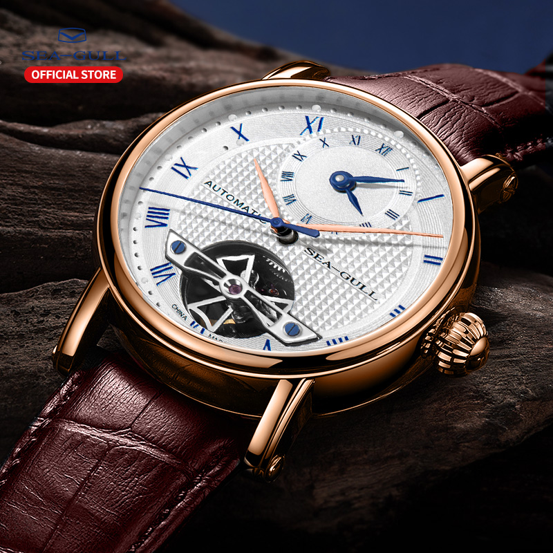 Image 5 - 海カモメビジネス腕時計メンズ機械式腕時計カレンダー 30 メートル防水レザーバレンタイン男性腕時計 519.11.6040機械式時計   -