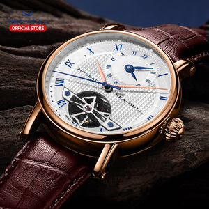 Image 5 - SEA GULL Business Watches Mens Mechanical Wristwatches  Calendar 30m Waterproof Leather Valentine Male Watches 519.11.6040