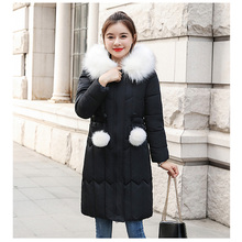 -25 degrees Winter Women long parkas jackets Plus size M-5XL thick warm big fur collar female Slim sintepon outwear coat
