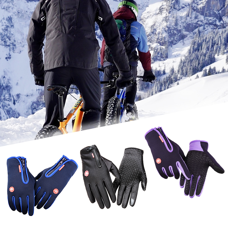 Unisex Winter Thermal Sports Gloves Cycling Ski Full Finger Warm Glove Touch Screen Cycling Bicycle Bike Ski Motorcycle Mittens