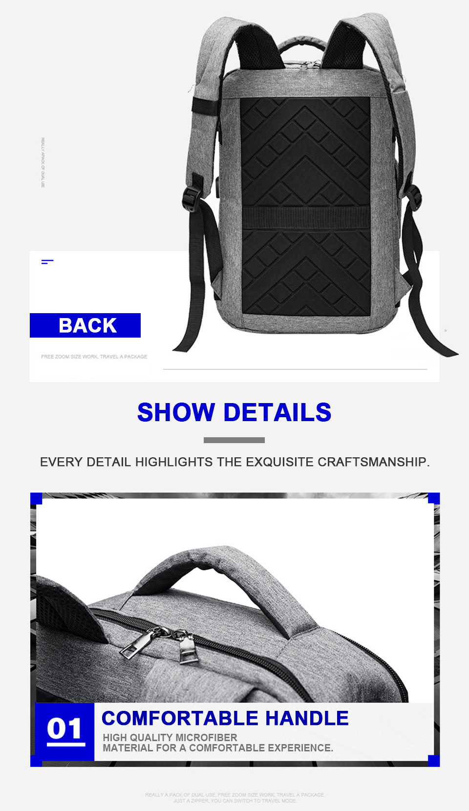 Men Backpack Anti Theft Travel Bagpack Laptop 15.6 Inch Notebook Waterproof Bags USB Charging Male Business Fashion Unisex Bag (15)