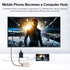 Image 3 - USB HDMI Type c Hdmi 3.0 charging converter Adapter Type C to HDMI USB 3.0 Type C aluminum hub for Macbook adapter smartphone