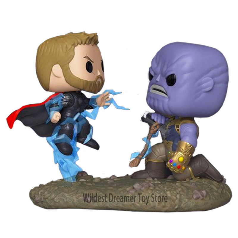 FUNKO POP Marvel Avengers Stan Lee Iron Man Thor Thanos Collection Model PVC Action Figure Kids Toys Children Gifts
