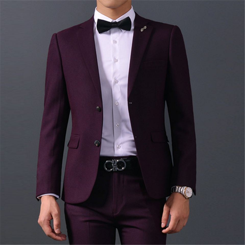 New Men's Suit Smolking Noivo Terno Slim Fit Easculino Evening Suits For Men Groom Wear TuxedosGroomsmen Best Man Formal Busines