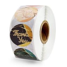 500шт спасибо наклейки печать этикетки круглые планировщик наклейки на конверты, подарочные коробки, свадебные украшения