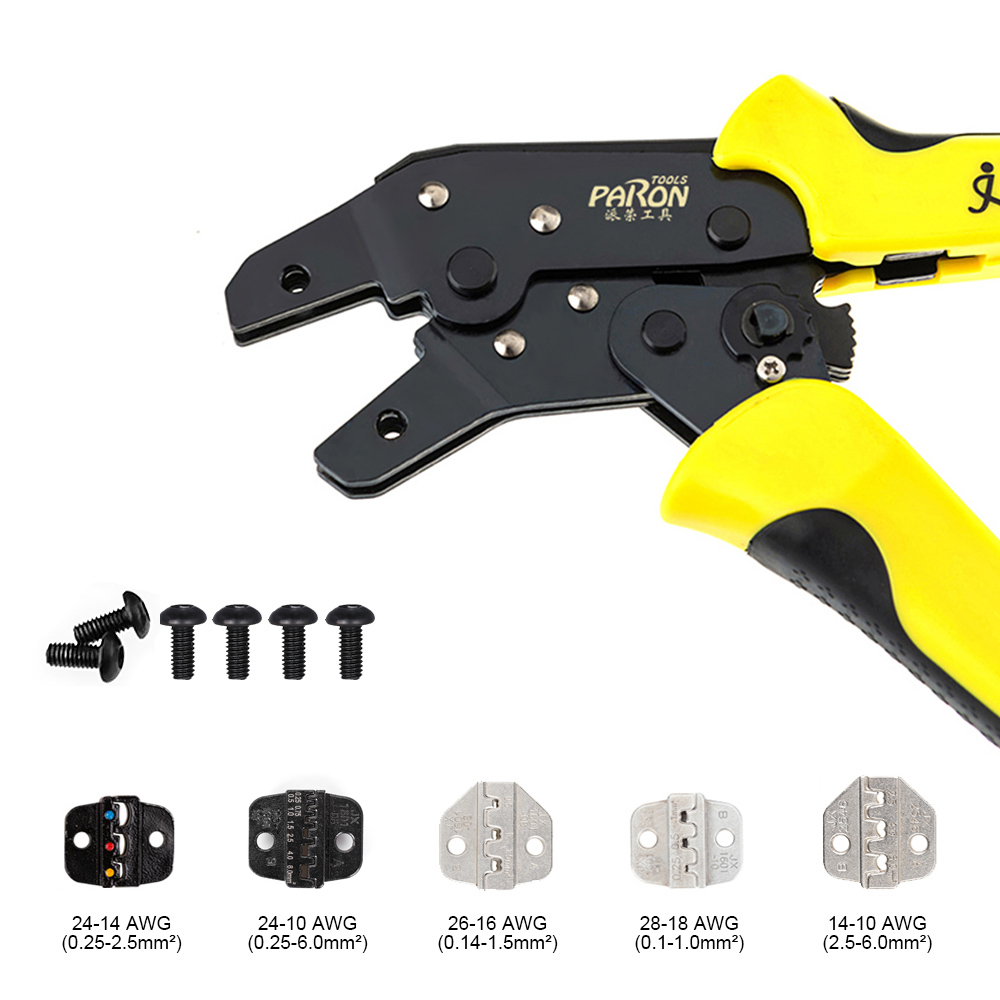 Tools : PARON Professional Wire Crimpers Engineering Ratcheting Terminal Crimping Pliers Bootlace Ferrule Crimper Tool Multi-tool