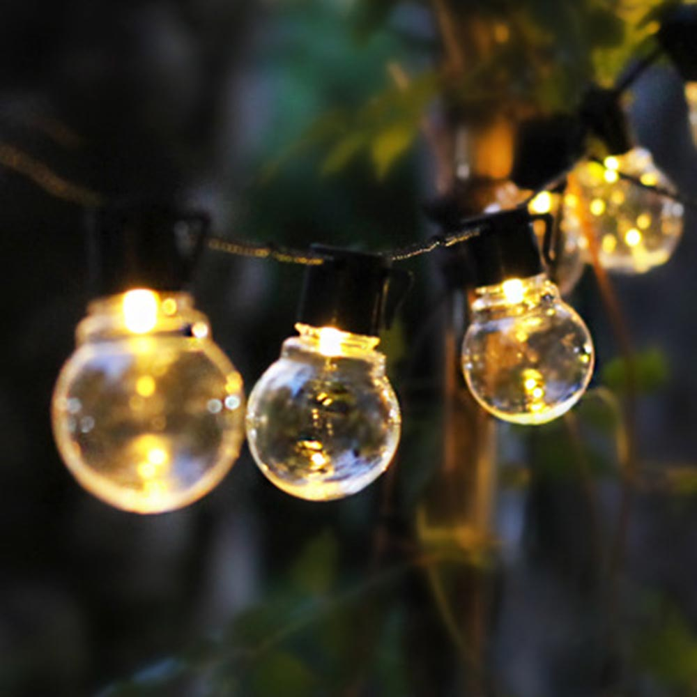 LED Fairy Light USB Battery Operated Solar Garland Globe Festoon Bulb Christmas String Lights Outdoor Garden Decor Party Wedding
