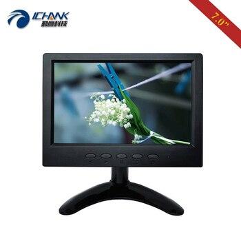 "ZB070JN-59/7"" inch 1024x600 Fullview IPS Screen BNC HDMI VGA Raspberry Pi3 Built-in Speaker PC Monitor U-Disk Advertising Player"
