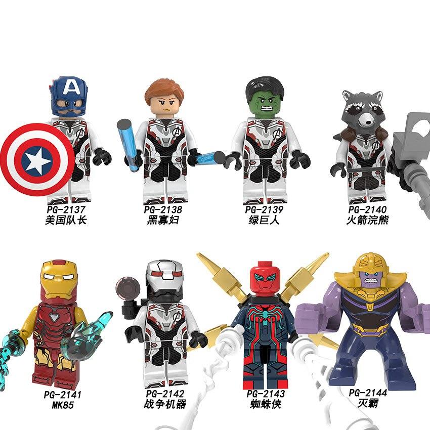 Marvel Building Blocks The Avengers 4 Endgames Captain America Black Widow Hulk MK85 Thanos Figure Gift Toys For Children PG8251