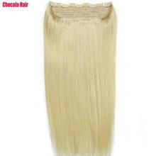 """Chocala Hair 1""""-28"""" Искусственные волосы одинаковой направленности волос 1 шт. набор 140 г натуральные бразильские прямые волосы шт зажим для наращивания человеческих волос"""