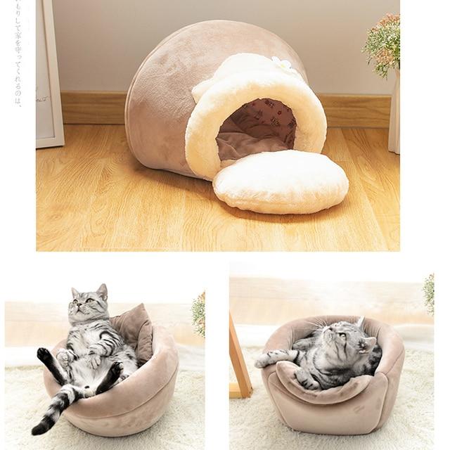 Foldable honeypot shape cave sleeping mat with pillow 1