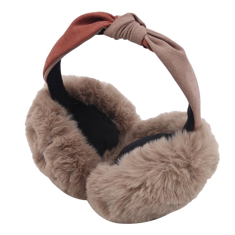 Winter Cute Ears Bow Earmuffs Cute Plush Bow Earmuffs Female Anti-freeze Ear Warm Plush Warm Protection Earmuffs