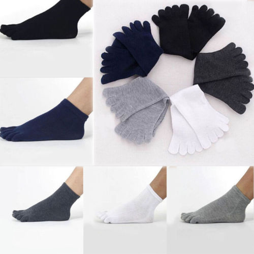 Five Toes Cotton Socks Mens Casual Pure Fitness Crew Workout Trainer Socks Finger Breathable HOT Short Socks